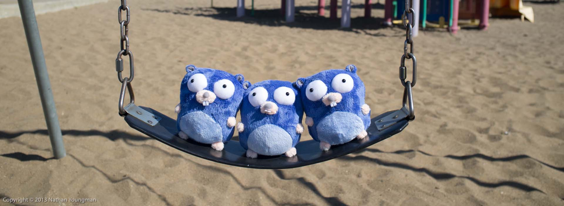 Gophers on a swing